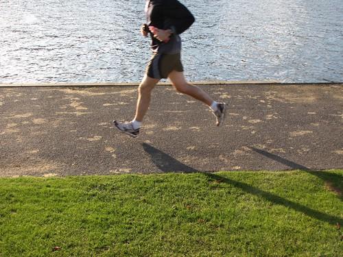 Henley jogs.