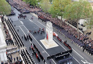 Her Majesty the Queen Lays a Wreath at the Cenotaph London During Remembrance Sunday Service