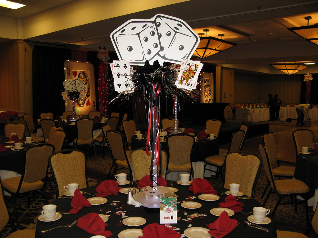 Casino Theme Bar Mitzvah Centerpieces Dice A Photo On