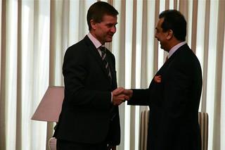 Solheim og statsminister Gillani