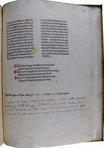 Ownership evidence and bibliographical notes in Rodericus Zamorensis: Speculum vitae humanae