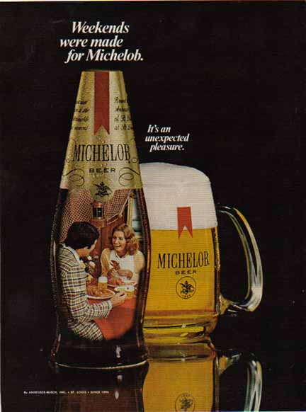 Beer In Ads #1208: Weekends Were Made For Michelob - Brookston Beer Bulletin