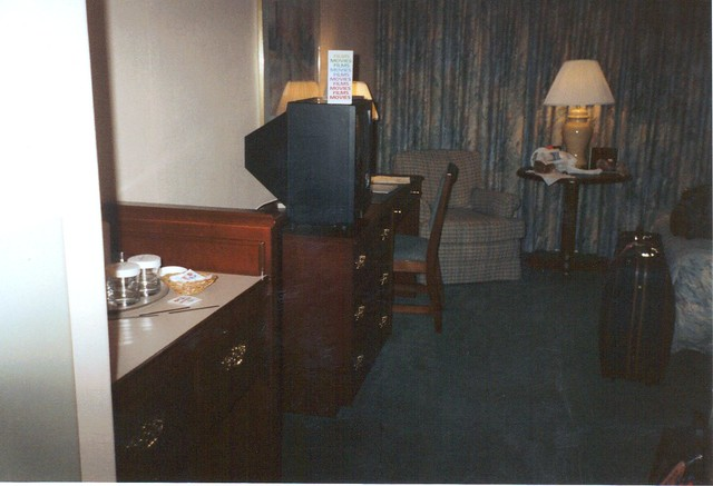 Great American Crossing 1995: Our bedroom in the Chicago Hilton and Towers