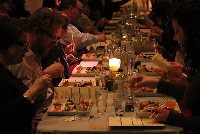 Tasting tapas at Small Scale. Photo by Rebecca Bullene.