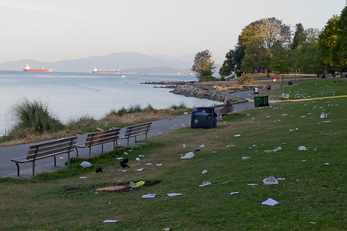 After the fireworks in English Bay