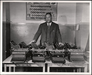 Cortez W. Peters, world champion typist