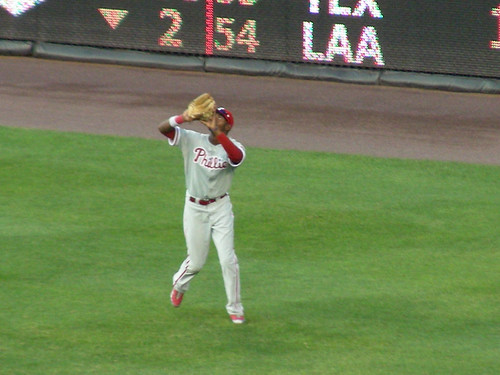 domonic brown catching a flyball