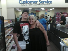 Aaron with star from Operation Repo. At Walmart.