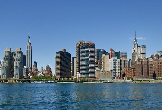 NYC Skyline - Empire State Building & Chrysler Building