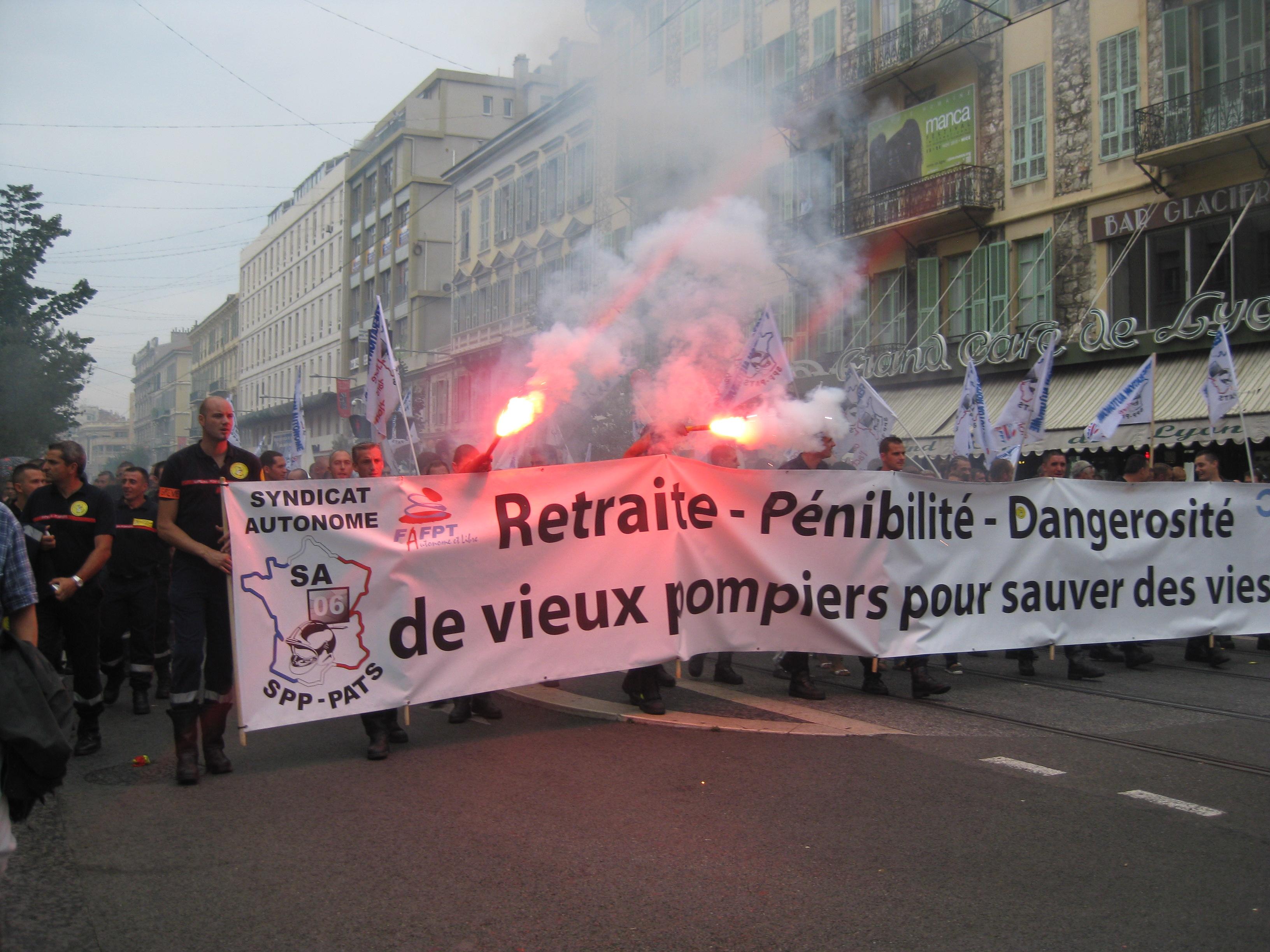 French Firemen on Strike
