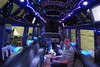 Inside one of the limos