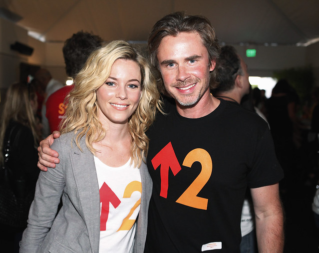 Elizabeth Banks and Sam Trammell backstage at the 2010 Stand Up To Cancer Show.