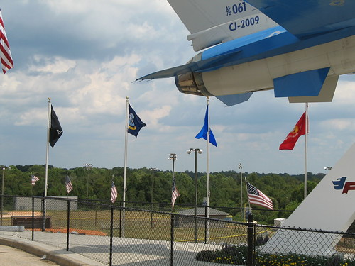 Highland Home Flying Squadron jet - flags