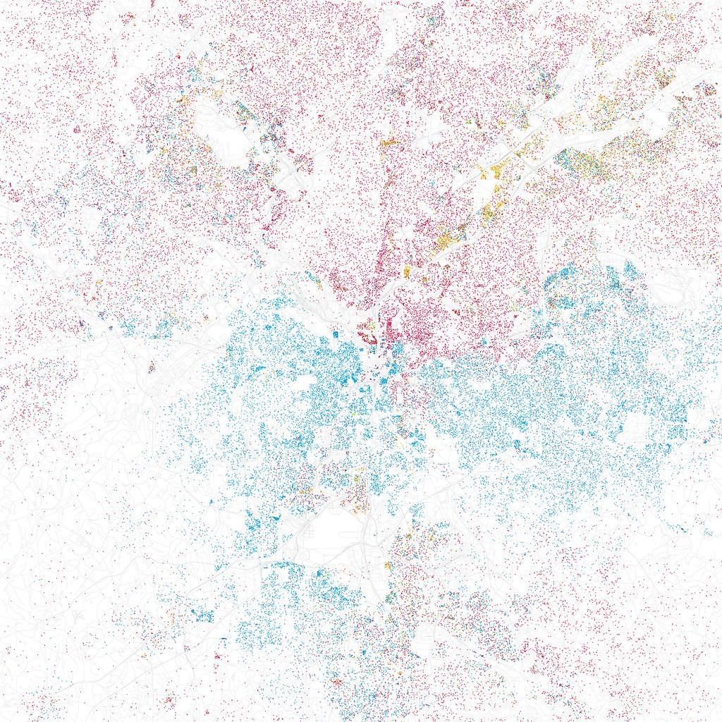 Racial Dot Maps In American Cities Page SkyscraperCity - Race maps of us cities