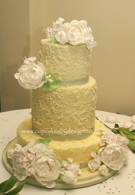 Peony wedding cake Grace and I made this cake for a special couple this