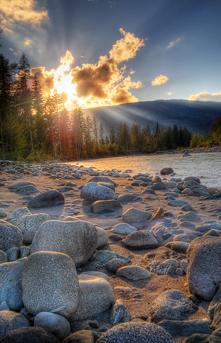 sunset sunrise river washington rocks wa darrington