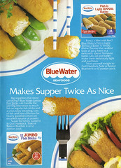 Vintage Ad #1,209: Blue Water Frozen Fish Makes Supper Twice As Nice