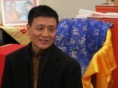 Tenzin Wagyal Rinpoche in western coat
