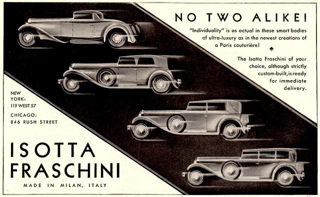 1930 Isotta Fraschini