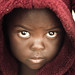 Girl in bathrobe: Lusaka by Jonathan Taphouse