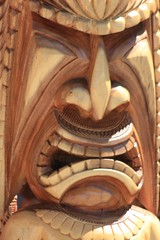 carving, art, wood, sculpture, mythology, tiki,
