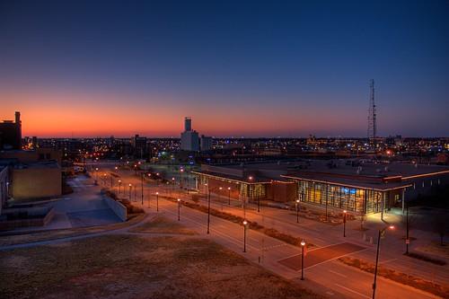 sunset landscape downtown cityscape missouri springfield hdr jordanvalleypark