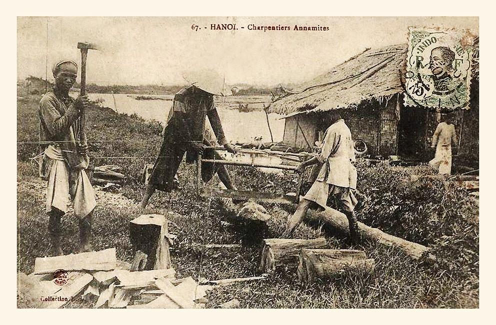 charpentiers anamites en 1910