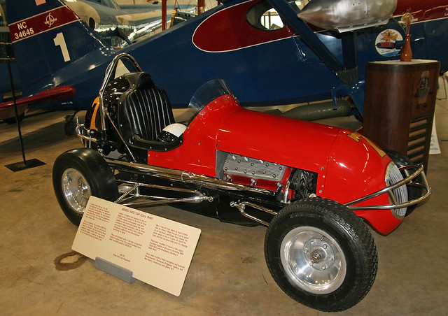 VINTAGE ANTIQUE MIDGET RACER RACE CAR 1930's KURTIS FORD V8-60