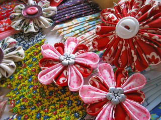 Kanzashi ~ new life for old buttons