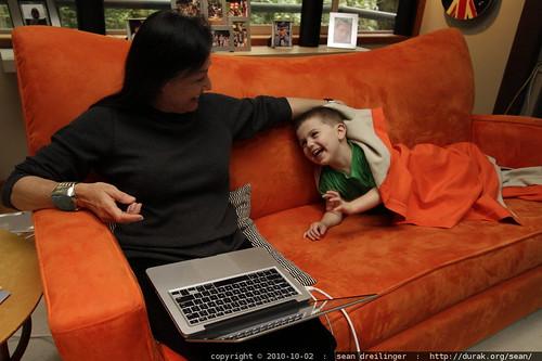sofa monster emerges to terrorize grandma