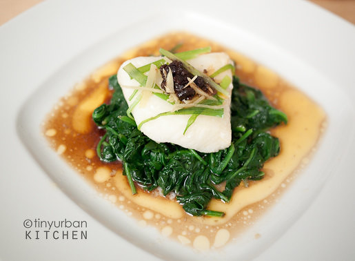 Ginger Scallion Black Bean Chilean Sea Bass