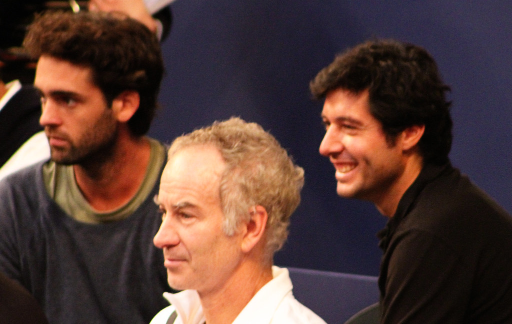 John McEnroe and Sébastien Grosjean