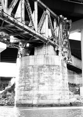 HB&T Railway Bridge from Buffalo Bayou, Houston, Texas 1002101511BW