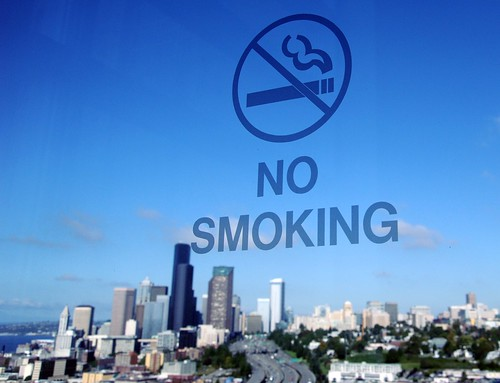 No Smoking Seattle Washington USA for clean air