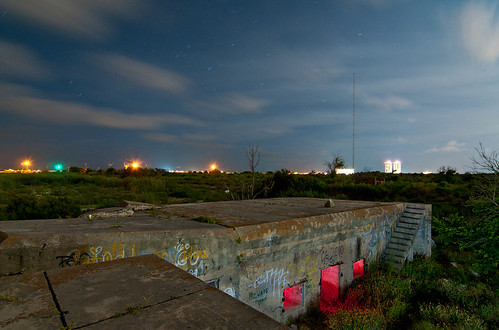 galveston abandoned night army island ruins fort battery croghan