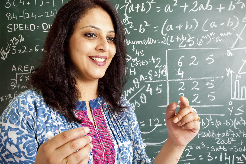 Indian Mathematics professor in classroom