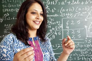 Indian Mathematics professor in classroom