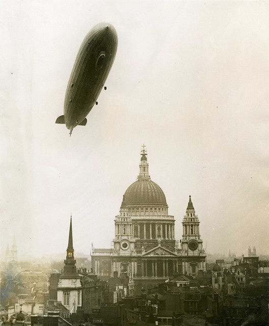 Zeppelin over St. Paul's