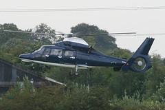 ZJ782 - 2007 build AS365N3 Dauphin departing the Police ASU