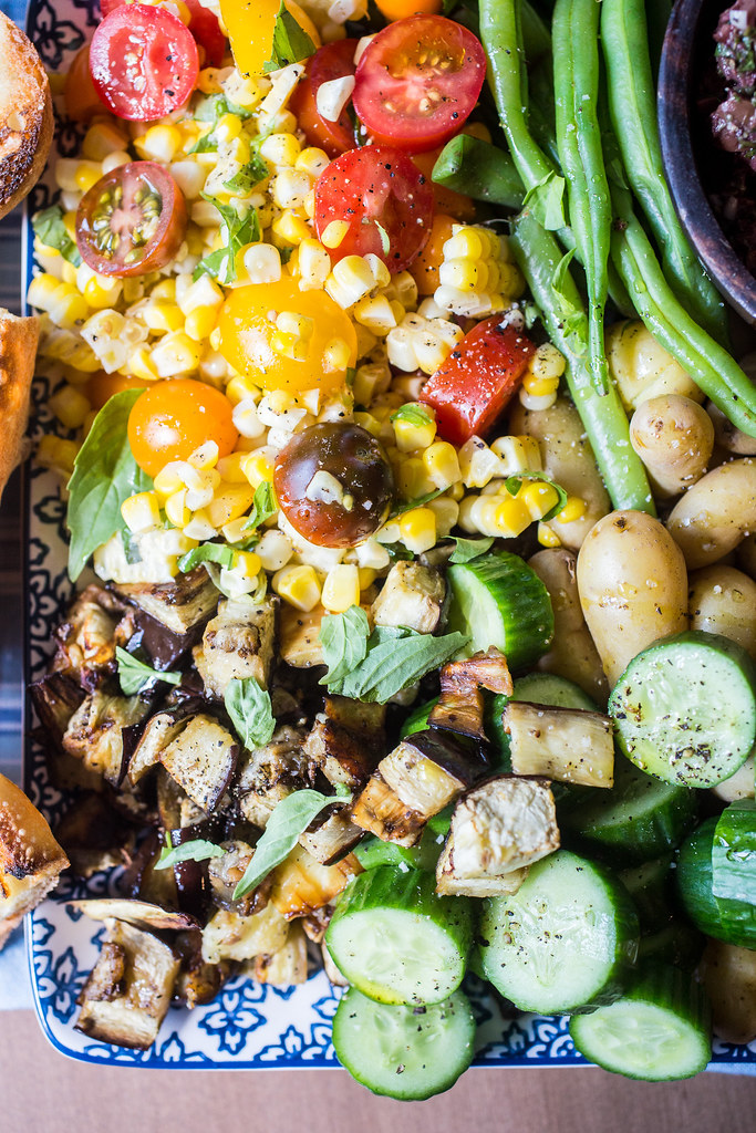 Summer Vegetable Salad with Tapenade