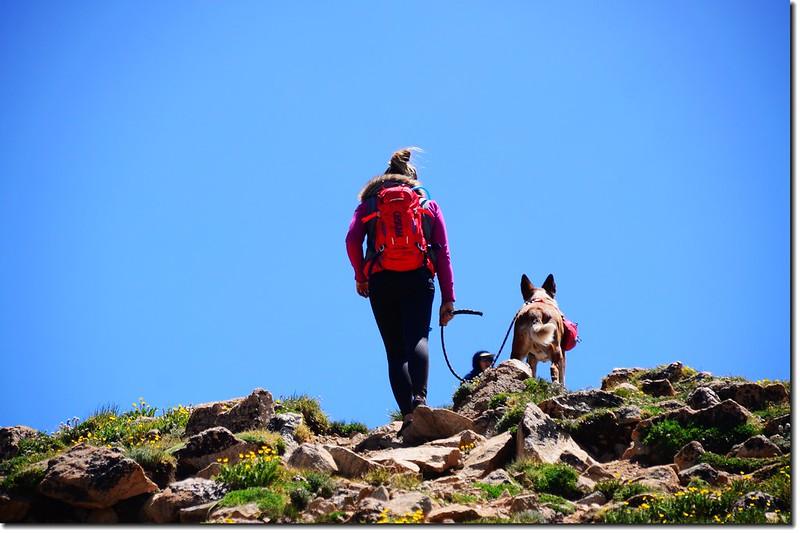Hiker & her pet