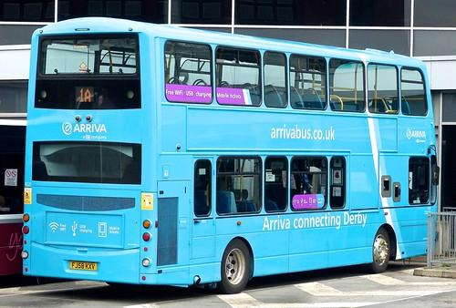 FJ58 KXV 'Arriva Midlands' No 4221 (light blue variation) Volvo B9TL / Wright Gemini Eclipse /4 on 'Dennis Basford's railsroadsrunways.blogspot.co.uk'