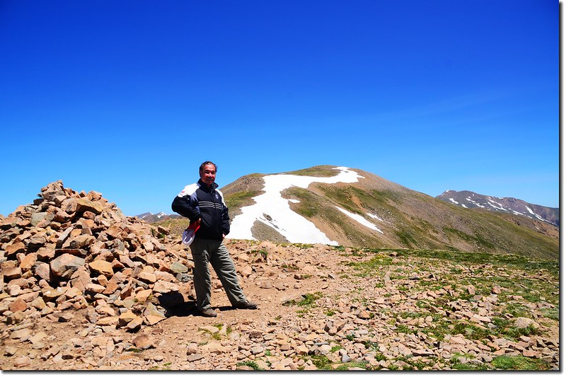 Me on the 12,915' Point, in the background is the 13,152' Point & Mount Sniktau