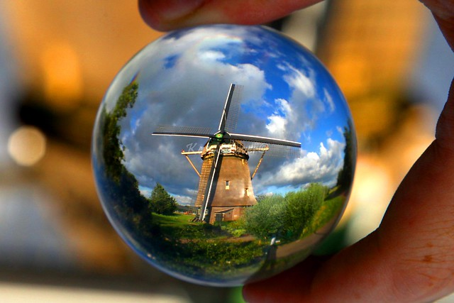 A Dutch windmill, Amsterdam – The Netherlands. Crystal ball