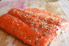 salmon, fish, seafood, lox, food, smoked salmon,