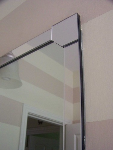 Hi sugarplum pizz azz framing a bathroom mirror - Mirror trim for bathroom mirrors ...