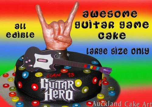 GUITAR HERO GAME BIRTHDAY CAKE