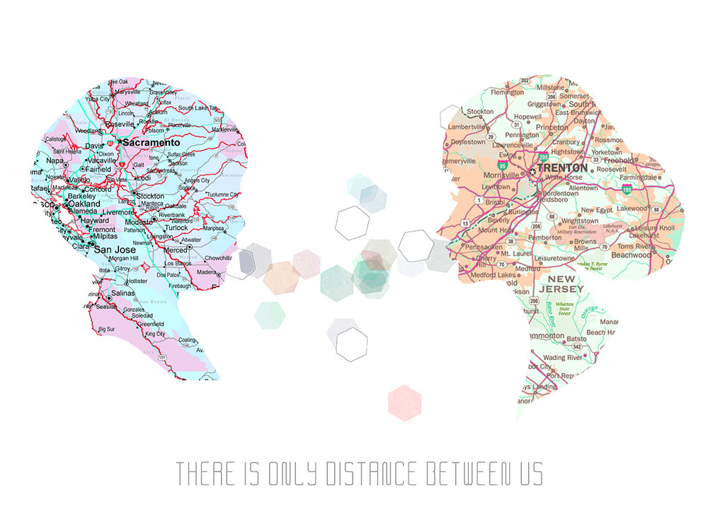 There is only distance between us