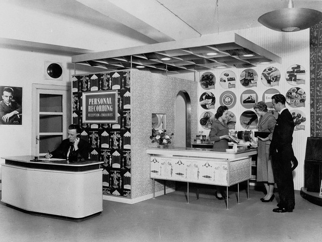 hmv 363 Oxford Street, London - Personal recording department 1950s