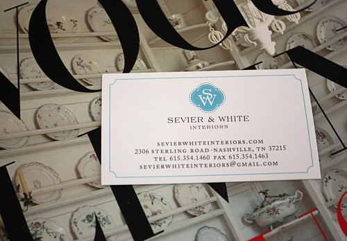 SevierWhite business card